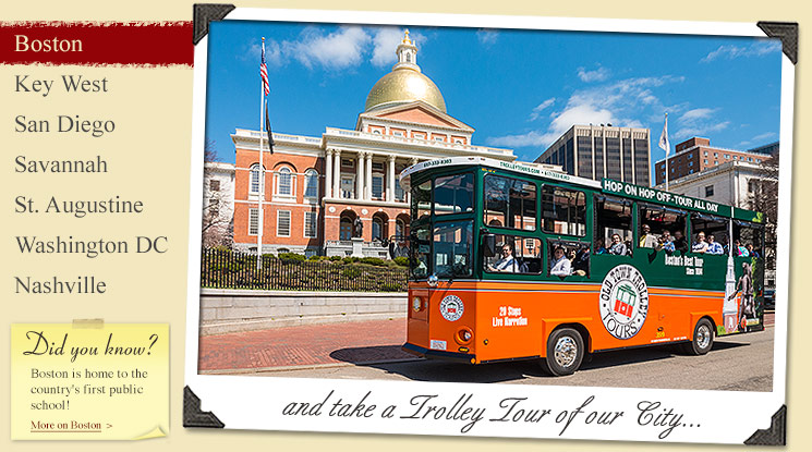 Image of Boston Tour Company Old Town Trolley